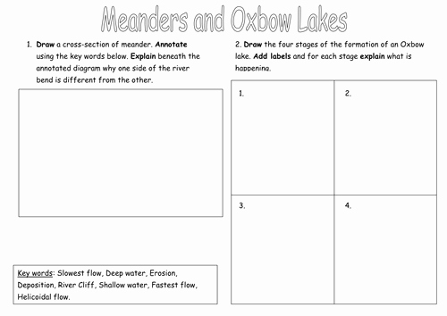 Boyle's Law Worksheet Answers Awesome Meander and Oxbow Lake formation Worksheet by Ksims25