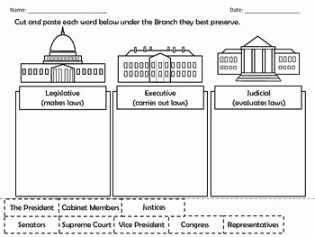 Branches Of Government Worksheet Awesome 3 Branches Government by Dressed In Sheets