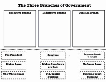 Branches Of Government Worksheet Best Of 3 Branches Of Government sort Worksheet by Taylor Doubler