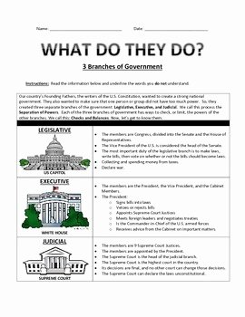 Branches Of Government Worksheet Elegant Three Branches Of Government English and Spanish by Miss