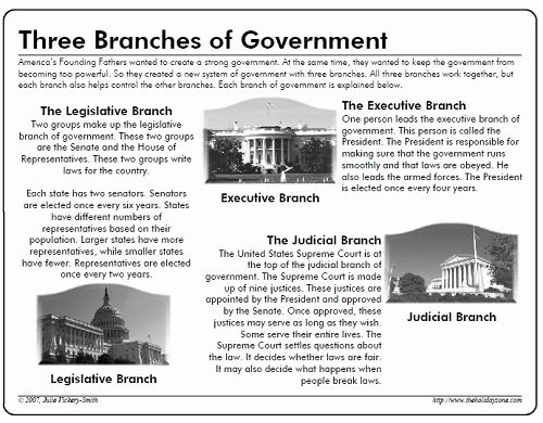 Branches Of Government Worksheet New Branches School