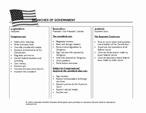 Branches Of Government Worksheet Pdf Awesome Three Branches Government Worksheet Pdf the Best