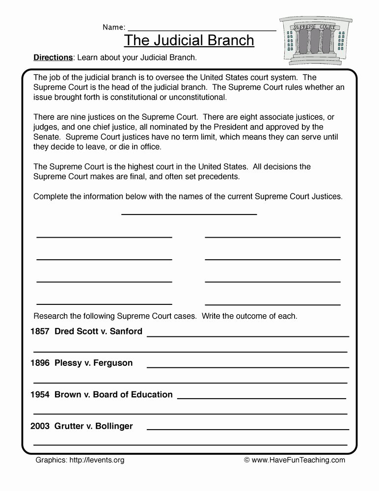 Branches Of Government Worksheet Pdf Inspirational Government Worksheets