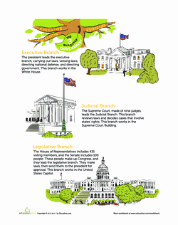 Branches Of Government Worksheet Pdf Lovely E Tree Three Branches Lesson Plan