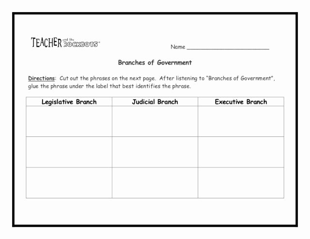 Branches Of Government Worksheet Pdf Unique Cross Curricular Reading Prehension Worksheets