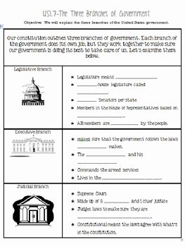 Branches Of Government Worksheet Pdf Unique Three Branches Of Government Notes and Tree by toni
