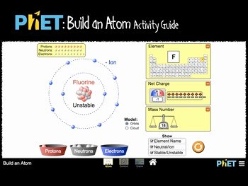Build An atom Worksheet Answers Beautiful Phet Build An atom Activity Guide by James Gonyo