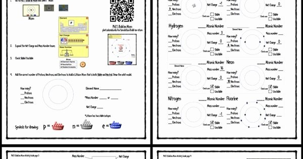 Build An atom Worksheet Answers Elegant Phet Build An atom Activity Guide