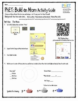 Build An atom Worksheet Answers New Phet Build An atom Activity Guide by James Gonyo