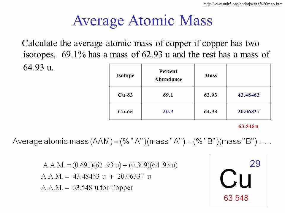 Calculating Average atomic Mass Worksheet Awesome Average atomic Mass Worksheet