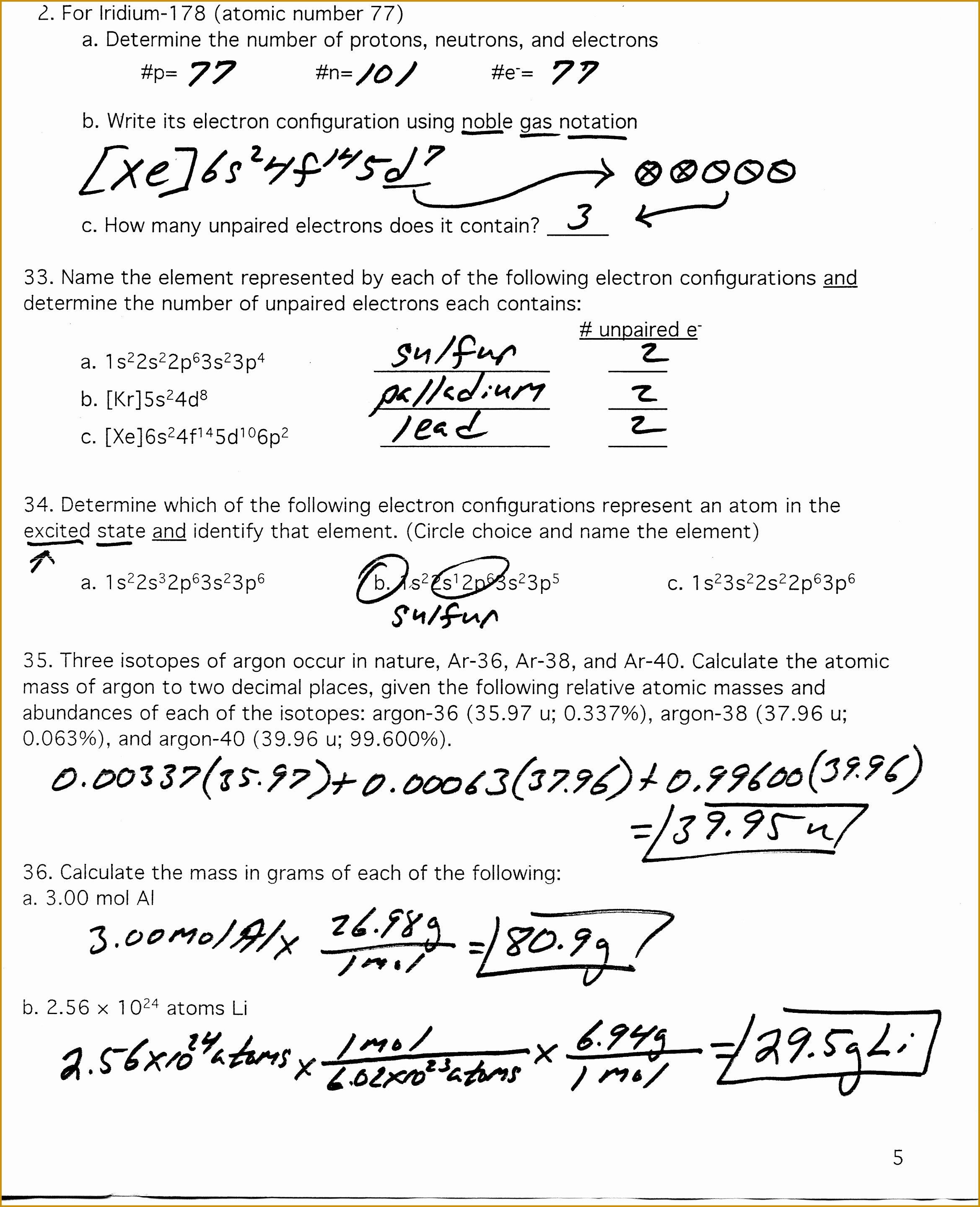 Calculating Average atomic Mass Worksheet Beautiful Calculating Average atomic Mass Worksheet Answers