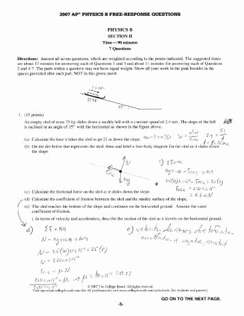 Calculating force Worksheet Answers Lovely Net force