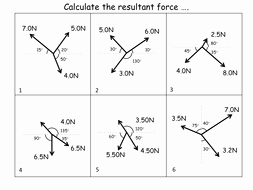 Calculating force Worksheet Answers Luxury Calculating Resultant forces Worksheet Answers by