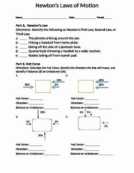 Calculating force Worksheet Answers Luxury Newton S Three Laws Of Motion Places to Visit