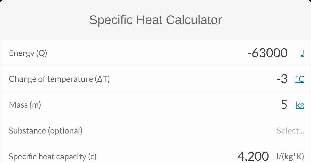 Calculating Specific Heat Worksheet Unique Specific Heat Worksheet