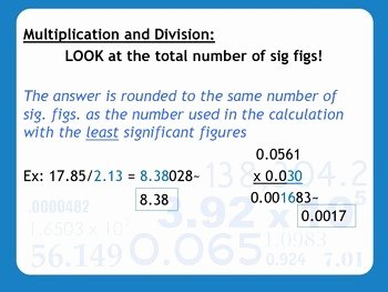 Calculations Using Significant Figures Worksheet Lovely Lesson Plan Significant Figures In Calculations by Msrazz