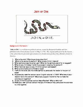 Cartoon Analysis Worksheet Answer Key Elegant French and Indian War American Revolution Join or Die