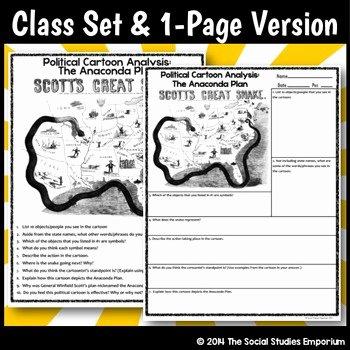 Cartoon Analysis Worksheet Answer Key Elegant Political Cartoon Analysis Activity Civil War Anaconda