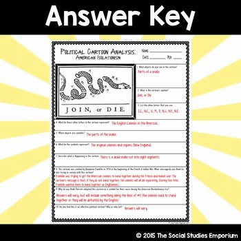 Cartoon Analysis Worksheet Answer Key Elegant Political Cartoon Analysis Join or Die by the social