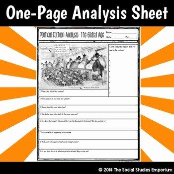 Cartoon Analysis Worksheet Answer Key Elegant Us History Analyzing Political Cartoons Worksheet Answers