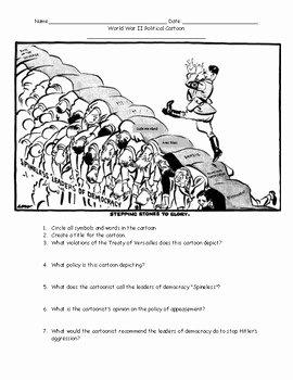 Cartoon Analysis Worksheet Answer Key Fresh World War Ii Political Cartoons Worksheet with Answer Key