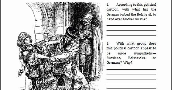 Cartoon Analysis Worksheet Answer Key Lovely Analyze A Political Cartoon Worksheet Treaty Of Brest