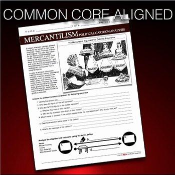 Cartoon Analysis Worksheet Answer Key Luxury Mercantilism Political Cartoon Analysis Age Of