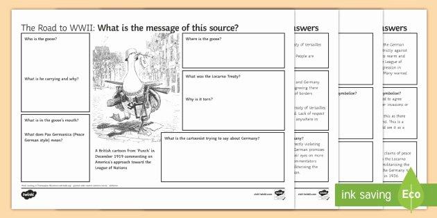 Cartoon Analysis Worksheet Answer Key Luxury Re Militarisation Of the Rhineland source Analysis
