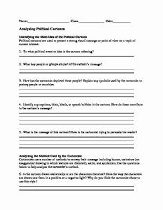 Cartoon Analysis Worksheet Answer Key New Reading A Map Worksheet