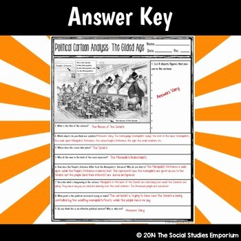 Cartoon Analysis Worksheet Answers Inspirational Political Cartoon Analysis Activity Monopolists In the