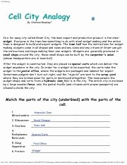 Cell City Analogy Worksheet Answers Luxury Cell Analogy Cell City Analogy Wid Wid Making