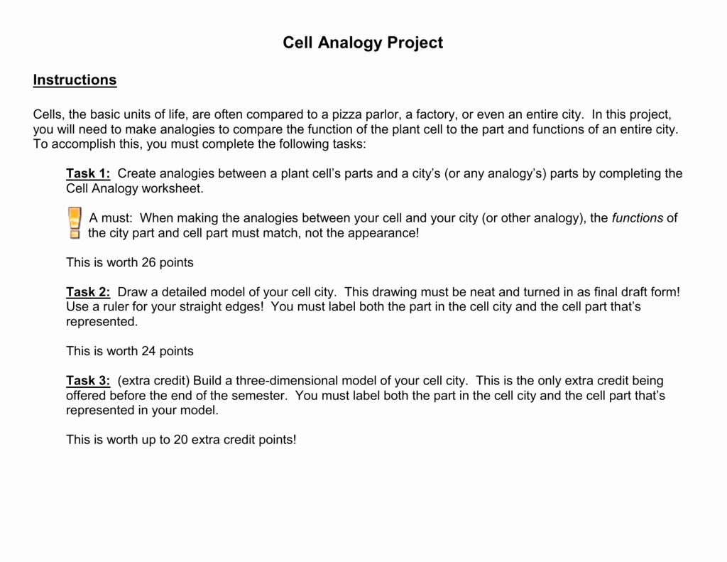 Cell City Analogy Worksheet Fresh Cell as A Factory Worksheet