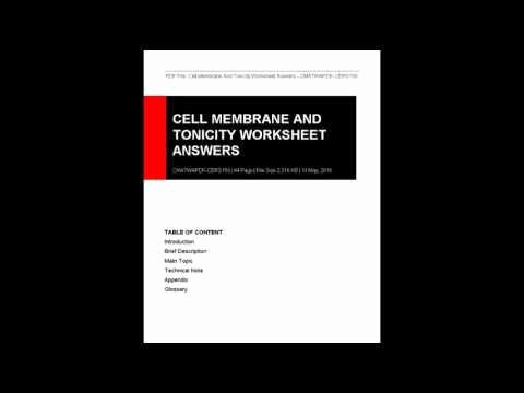 Cell Membrane and tonicity Worksheet Best Of Cell Membrane and tonicity Worksheet