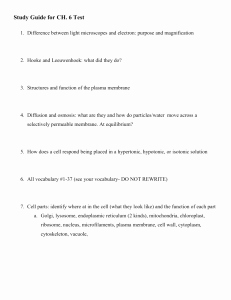 Cell Membrane and tonicity Worksheet Elegant Cell Membrane & tonicity Worksheet