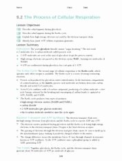 Cellular Respiration Worksheet Key Luxury Cellular Respiration Review Worksheet Answer Key