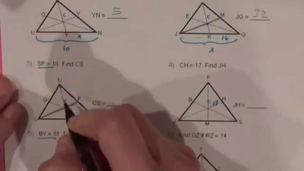 Centers Of Triangles Worksheet Awesome Worksheet Medians A Triangle Worksheet Worksheet Fun