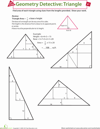 Centers Of Triangles Worksheet Beautiful Geometry Detective Triangle