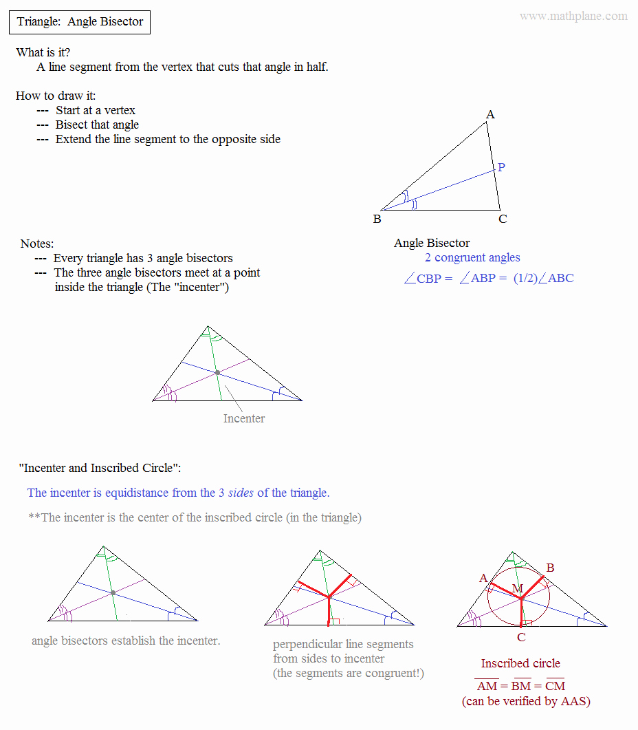 Centers Of Triangles Worksheet Best Of Math Plane Triangle Parts Median Altitude Bisectors