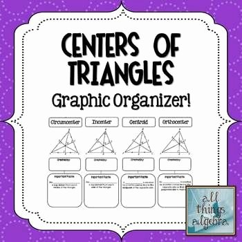 Centers Of Triangles Worksheet Elegant Centers Of Triangles Graphic organizer