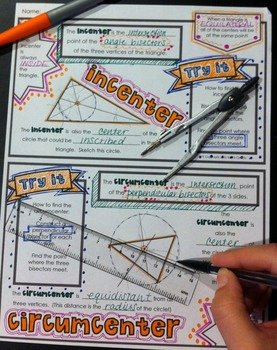 Centers Of Triangles Worksheet Fresh Centers Of Triangles Doodle Notes by Math Giraffe