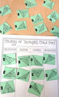 Centers Of Triangles Worksheet Inspirational 1000 Images About Geometry On Pinterest