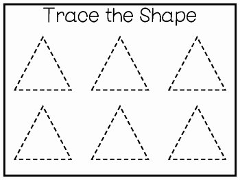 Centers Of Triangles Worksheet Inspirational 5 All About the Shape Triangle No Prep Tracing Worksheets