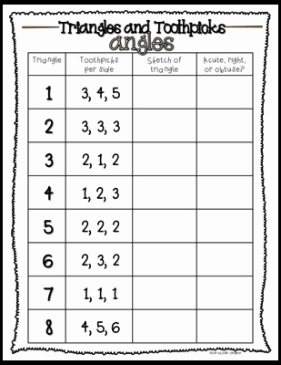 Centers Of Triangles Worksheet Inspirational Triangles and toothpicks From Leslievarghese On