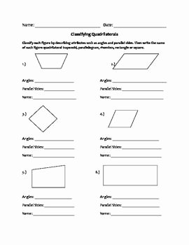 Centers Of Triangles Worksheet Unique Quadrilaterals Worksheet Geometry