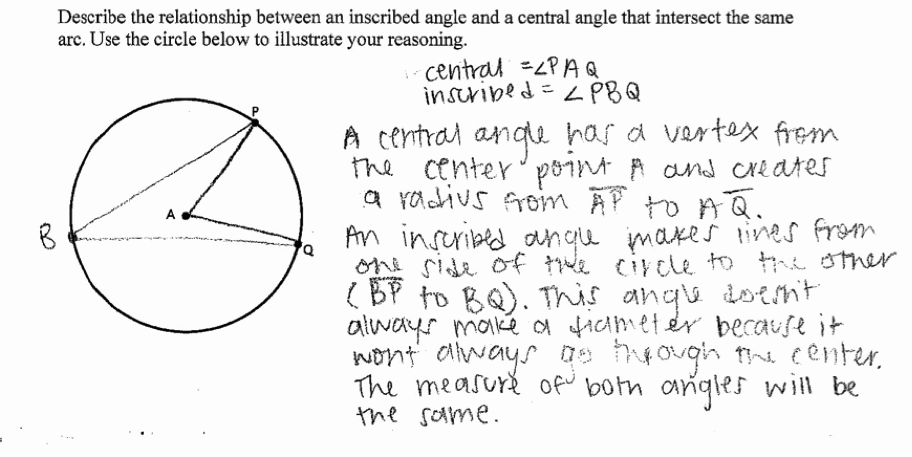 Central and Inscribed Angle Worksheet Beautiful Central and Inscribed Angles