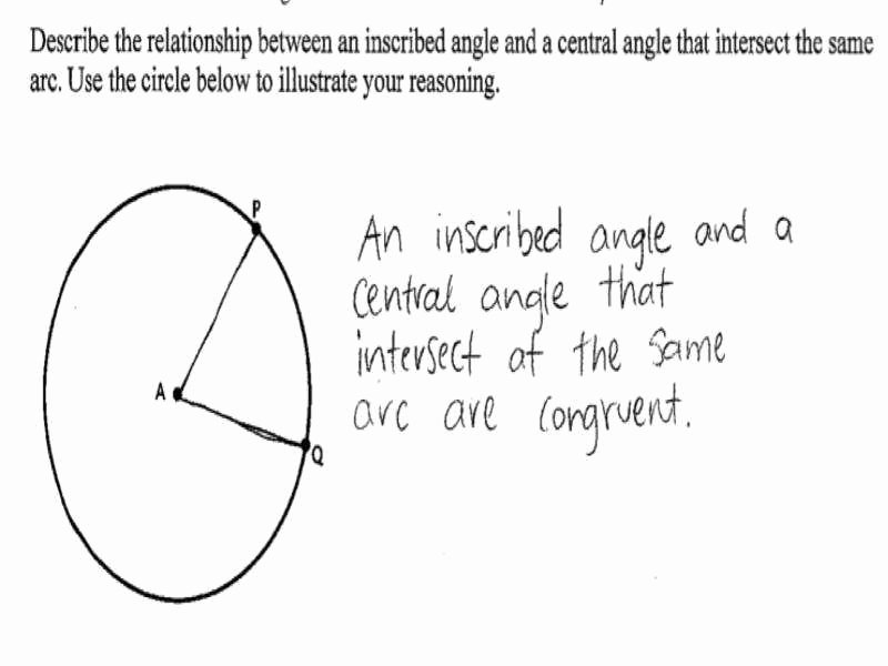 Central and Inscribed Angle Worksheet Lovely Inscribed Angles Worksheet