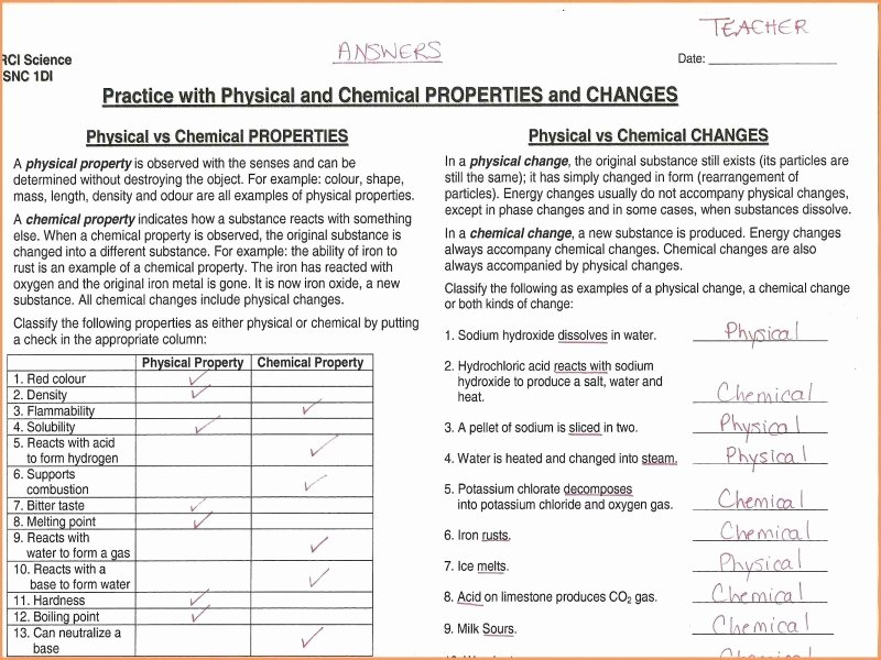 Change In Matter Worksheet Fresh Changes In Matter Worksheet Free Printable Worksheets