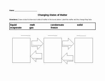 Change In Matter Worksheet Luxury Changing States Of Matter Worksheet by Liz Macie