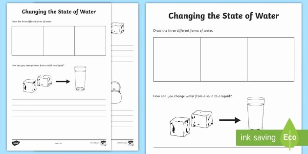 Change Of State Worksheet Lovely Changing Water Worksheet Worksheet Water In Australia