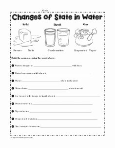 Change Of State Worksheet New How States Of Matter Change Freebie